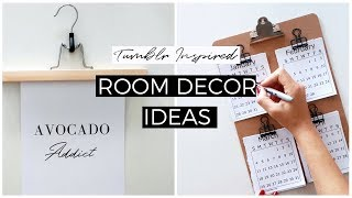DIY MINIMAL ROOM DECOR IDEAS | Tumblr Inspired Room Makeover
