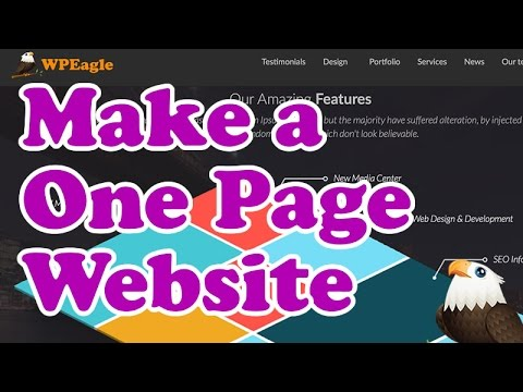 How to Make a ONE PAGE WEBSITE in WordPress