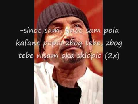 Zeljko Bebek - Sinoc Sam Pola Kafane Popio Lyrics