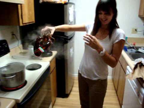 My Girlfriend Kills a Live Lobster  YouTube