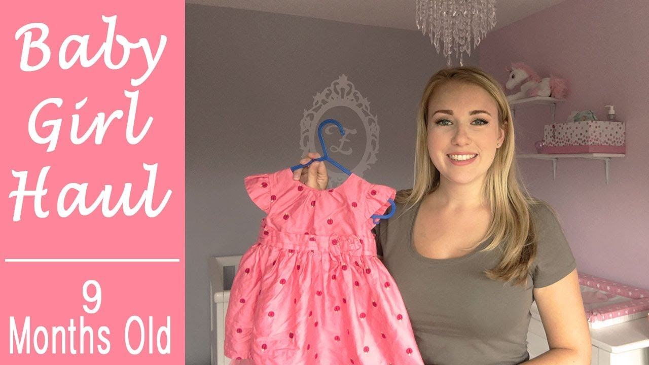 4321da009319 BABY GIRL CLOTHING HAUL - 9-12 MONTHS - YouTube