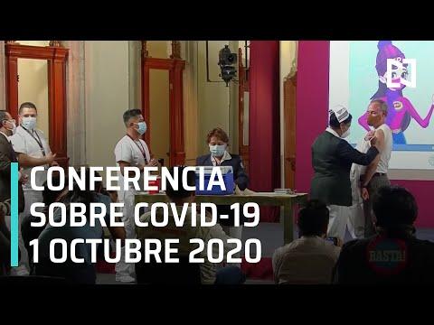 Conferencia Covid-19 en México - 1 octubre 2020