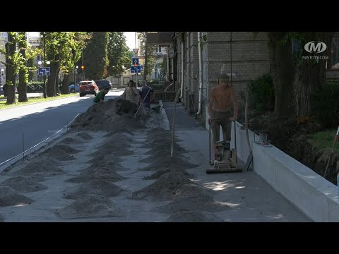 МТРК МІСТО: На вулиці Гагаріна замінюють пішохідну доріжку