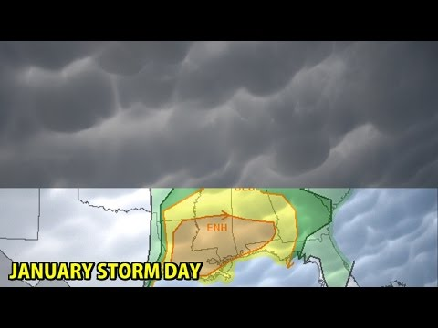 NIGHTLY WEATHER - Monday 1/2/2017 - Thunderstorms in the south!
