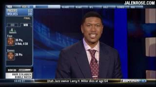 LeBron or Kobe - Jalen Rose Picks His Superstar - 2/20/09 ESPNews HD