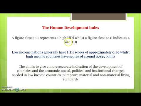 The main indicators of economic development and living standards