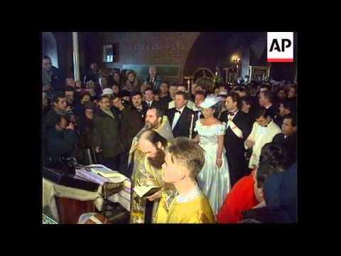 RUSSIA:MOSCOW: ZHIRINOVSKY CELEBRATES SILVER WEDDING ANNIVERSARY