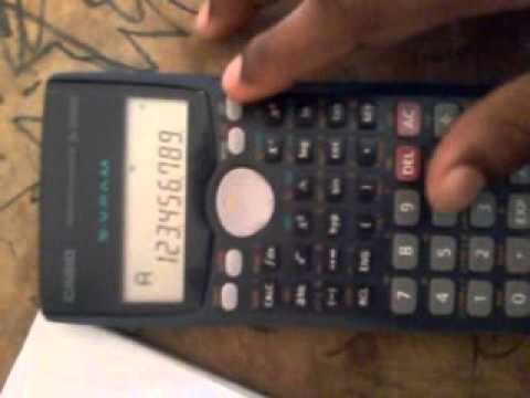 Save data in scientific calculator