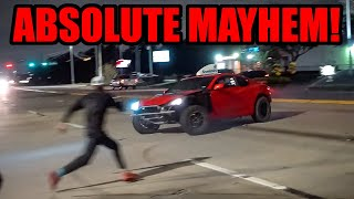 These Cars Went CRAZY SENDING IT Leaving This Car Meet! (Donuts, Drifts,  Burnouts, and MORE!)