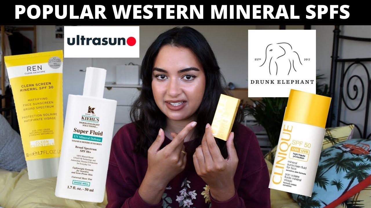 SKINCARE HAUL- POPULAR (western) MINERAL SUNSCREENS | Drunk elephant, Keihls, REN, Clinique and more