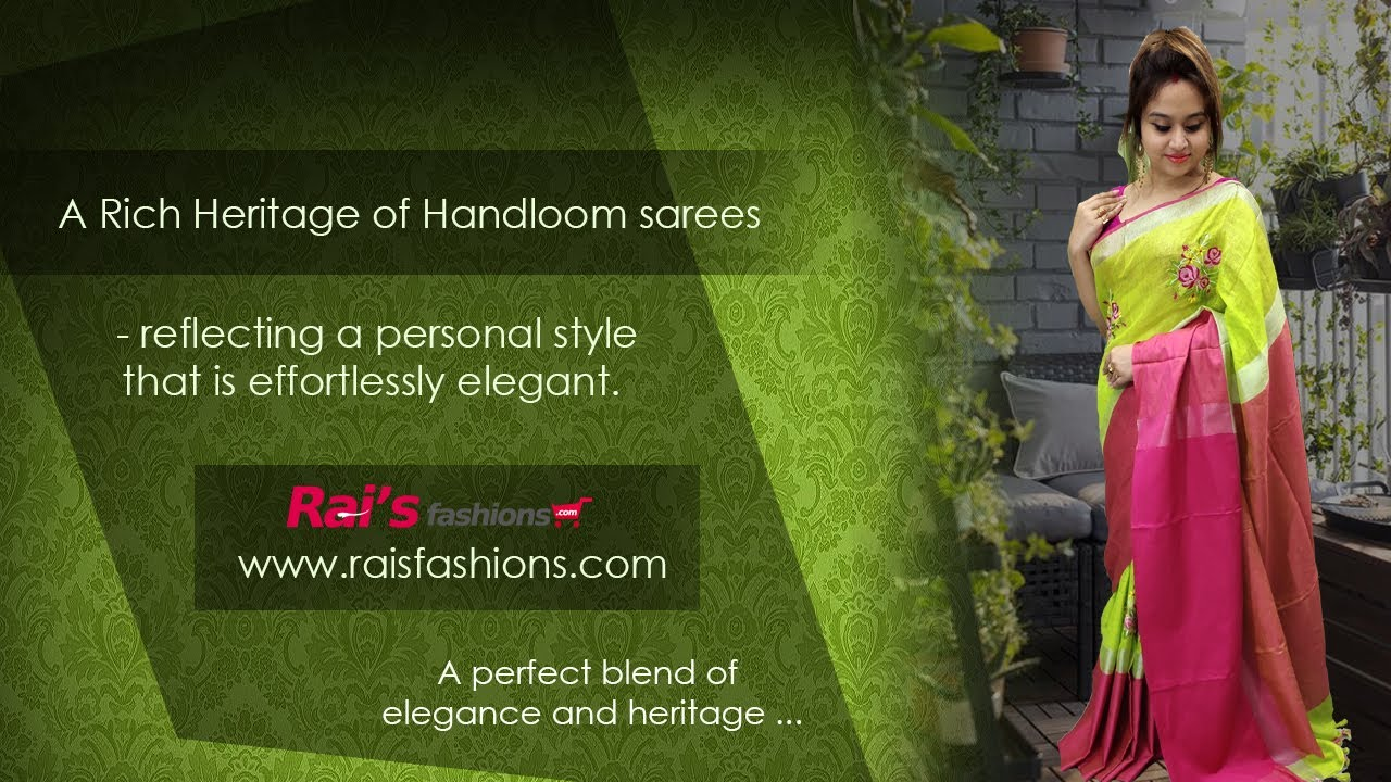 A Rich Heritage Of Handloom Sarees 😍 Reflecting A Personal Style (04th August) - 31JY
