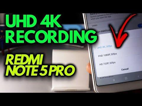 UHD 4K RECORDING on Redmi NOTE 5 PRO [MIUI CAMERA]