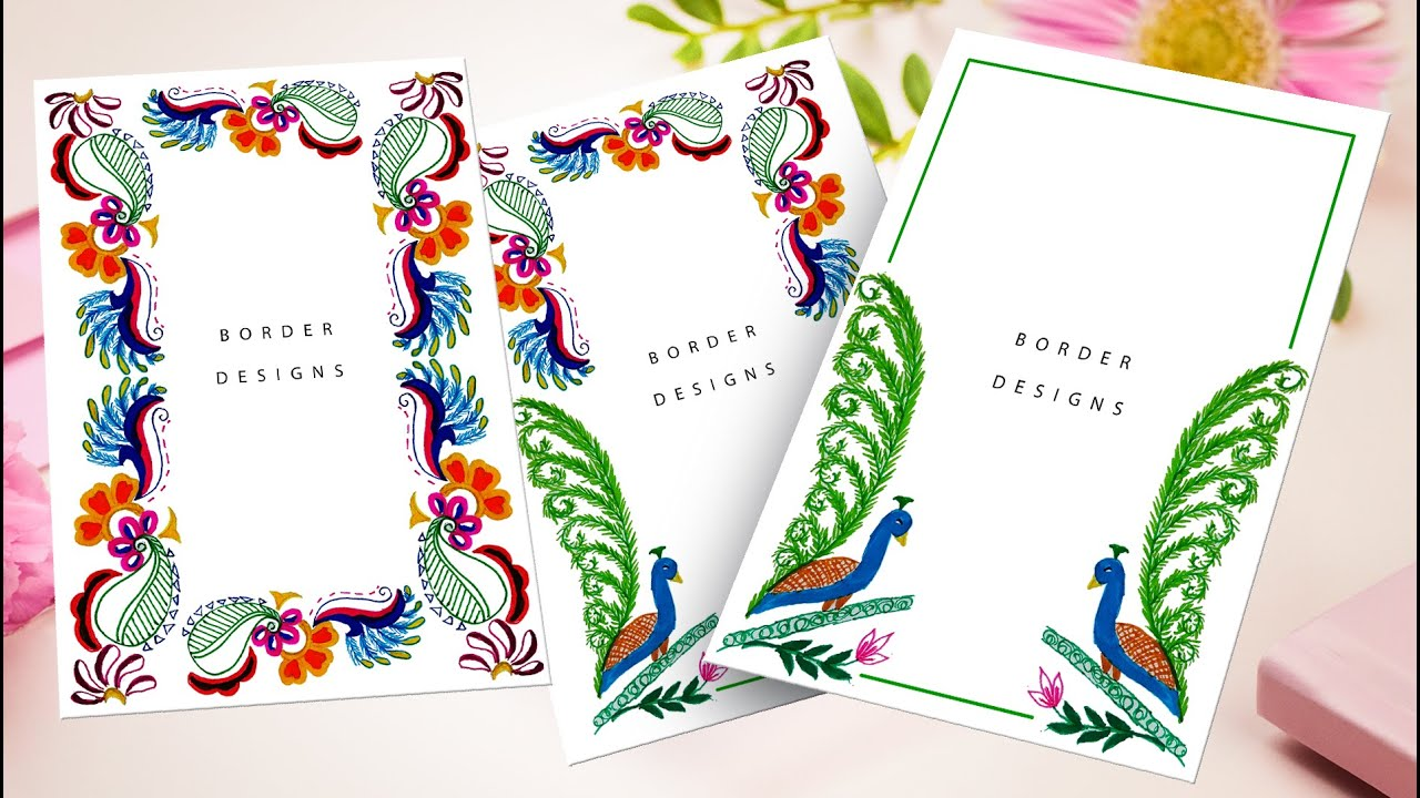 easy border designs on paper | borders for project