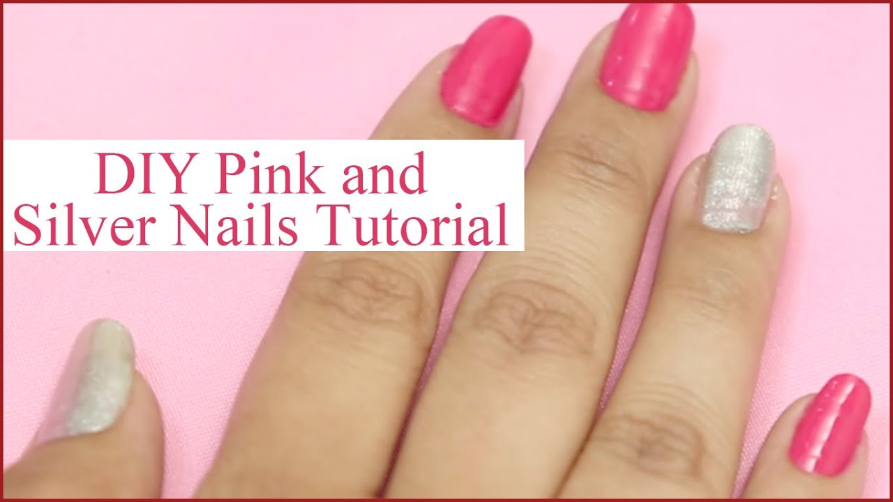 Pink And Silver Nail Art That Will Leave You Mesmerized - YouTube