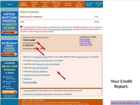 free credit reports online