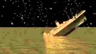 Simulazione Del Titanic Che Affonda