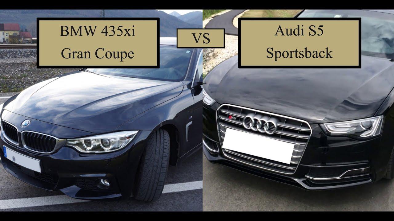Vergleich Bmw 435 Xi Gran Coupe Vs Audi S5 Sportsback Bj