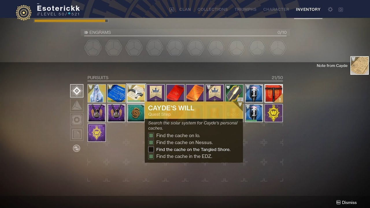 dd664919f07 All 4 Cayde s Cache Locations - Ace of Spades Exotic Quest  Destiny 2  Forsaken