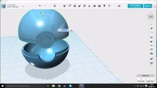 Pokemon Pokeball Container speed design in 123d design