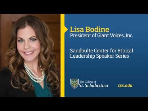 Sandbulte Center for Ethical Leadership Speaker Series: Lisa Bodine