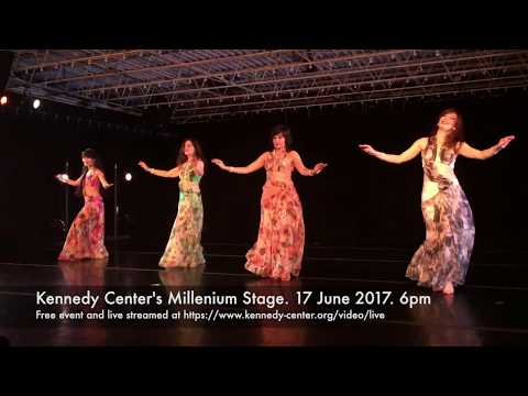 Sunset oasis at Kennedy Center's Millennium Stage