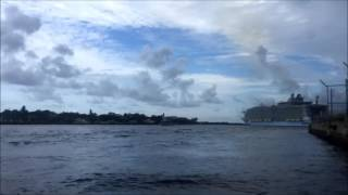 2016 - Biggest cruise ship in the world leaving Port Everglades, Fort Lauderdale, FL