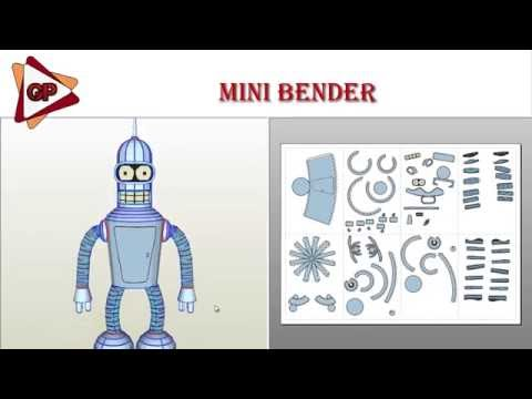 Mini Bender Papercraft/Pepakura