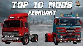 TOP 10 ETS2 Mods February 2018 | Euro Truck Simulator 2 (ETS2 1.30)