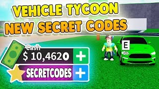 ALL NEW ROBLOX VEHICLE TYCOON CODES