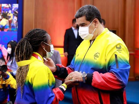 Maduro recibe a atletas de Juegos Paralímpicos de Tokio en el Palacio de Miraflores, 9 sept 2021