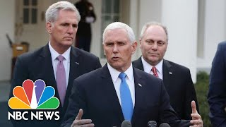 Mike Pence Responds To Donald Trump Walkout: Democrats 'Unwilling To Even Negotiate' | NBC News