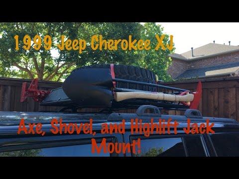 DIY Highlift Jack, Axe, and Shovel Roof Rack Mount