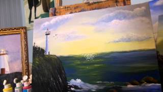 How to paint ocean waves with sparkles  Acrylic painting tips and tricks Lesson 7,