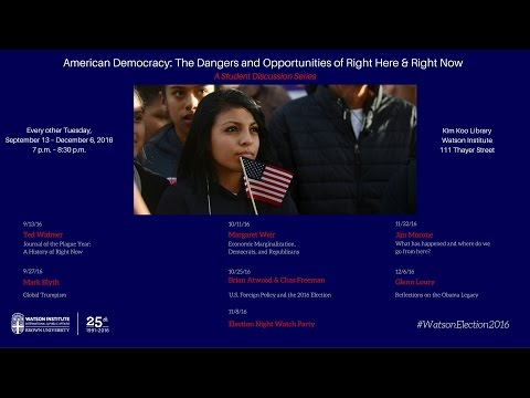 J. Brian Atwood and Chas Freeman ─ U.S. Foreign Policy and the 2016 Election