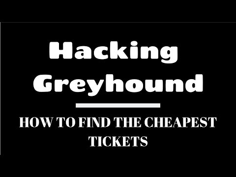 Hacking Greyhound: How To Save Up To 50% Off Bus Tickets