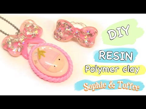 Making molds and kawaii jewelry-  DIY- Resin-  Polymer clay- Sophie & Toffee April Box
