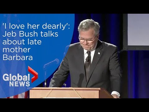 'I love her dearly': Jeb Bush chokes up talking about Barbara