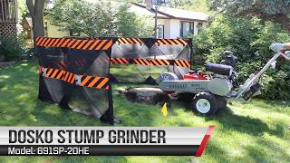 Dosko 691SP-20HE Self-Propelled Stump Grinder