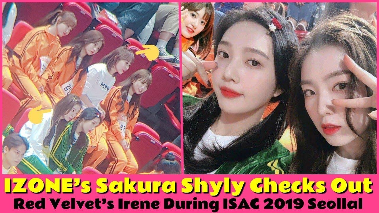 IZONE's Sakura Shyly Checks Out Red Velvet's Irene During ISAC 2019 Seollal