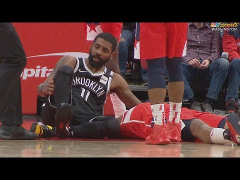 Kyrie Irving Killer Crossover! Knee Injury vs Wizards 2019-20 NBA Season