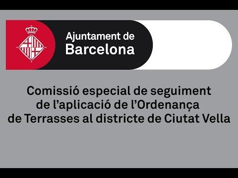 Comissió de seguiment de l'aplicació de l'Ordenança de Terrasses a Ciutat Vella 9/04/2019