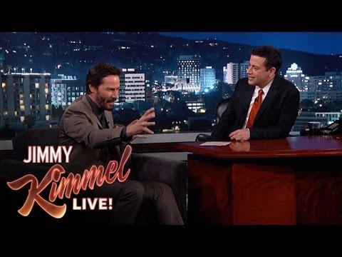 Jimmy Kimmel Asks Keanu Reeves Random Questions - YouTube