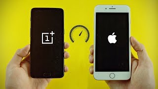iPhone 8 Plus vs OnePlus 5 8GB RAM - Speed Test! (4K)