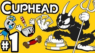 """CUPHEAD + Mugman - 2 Player Co-Op! - Gameplay Walkthrough PART 1: """"Don't Deal With The Devil"""" Video"""
