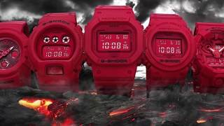 Casio G Shock Red Out Collection 35th Anniversary 2018