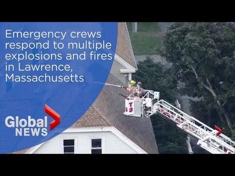 Emergency crews respond to reports of multiple explosions and fires in Lawrence, Massachusetts
