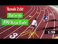 Track Workout: Breaking 2 Minutes in the 800M Race!