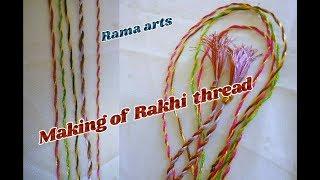 Raki thread making - For making of Raki thread with silk thread | jewellery tutorials