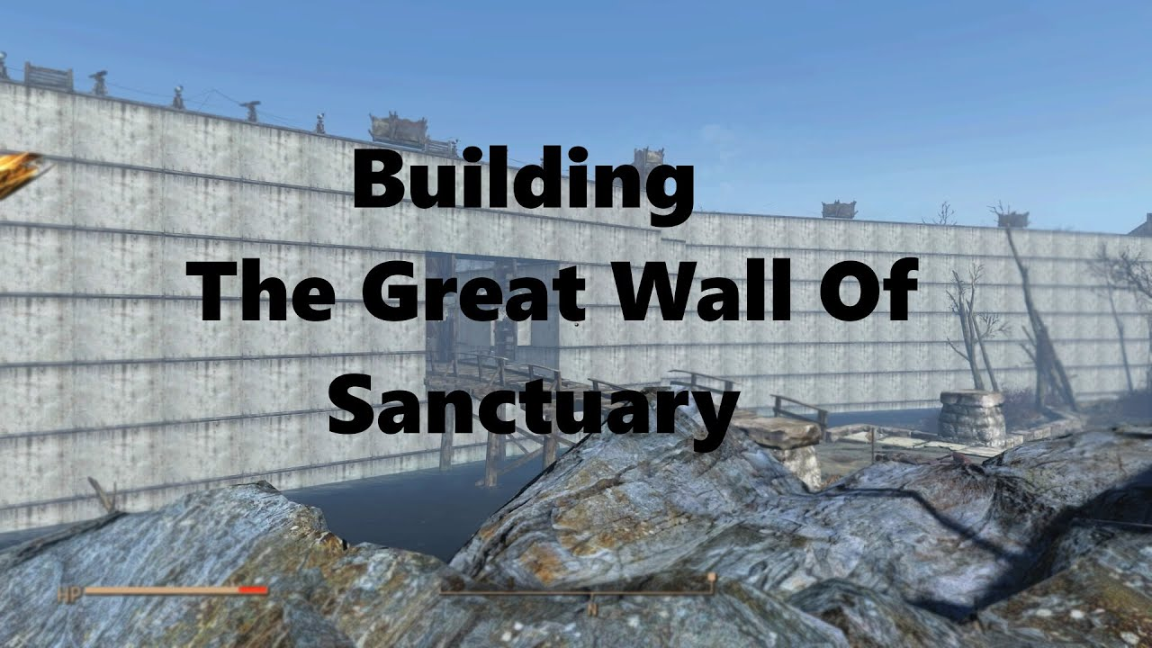 How To Use Wall Lights Fallout 4 : Building The Great Wall of Sanctuary Fallout 4 - (Streamed: 12/6/2015) - YouTube