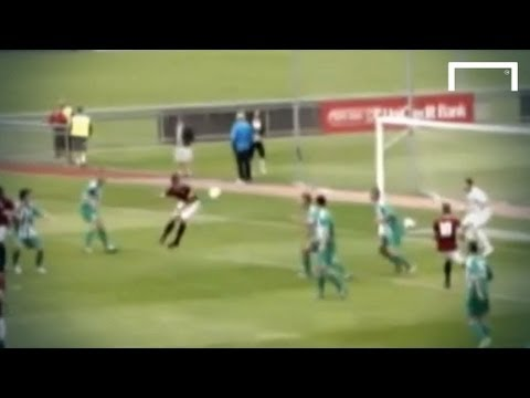 Player scores intentionally with his bum